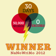 NaNoWriMo 2012 Winner's Badge