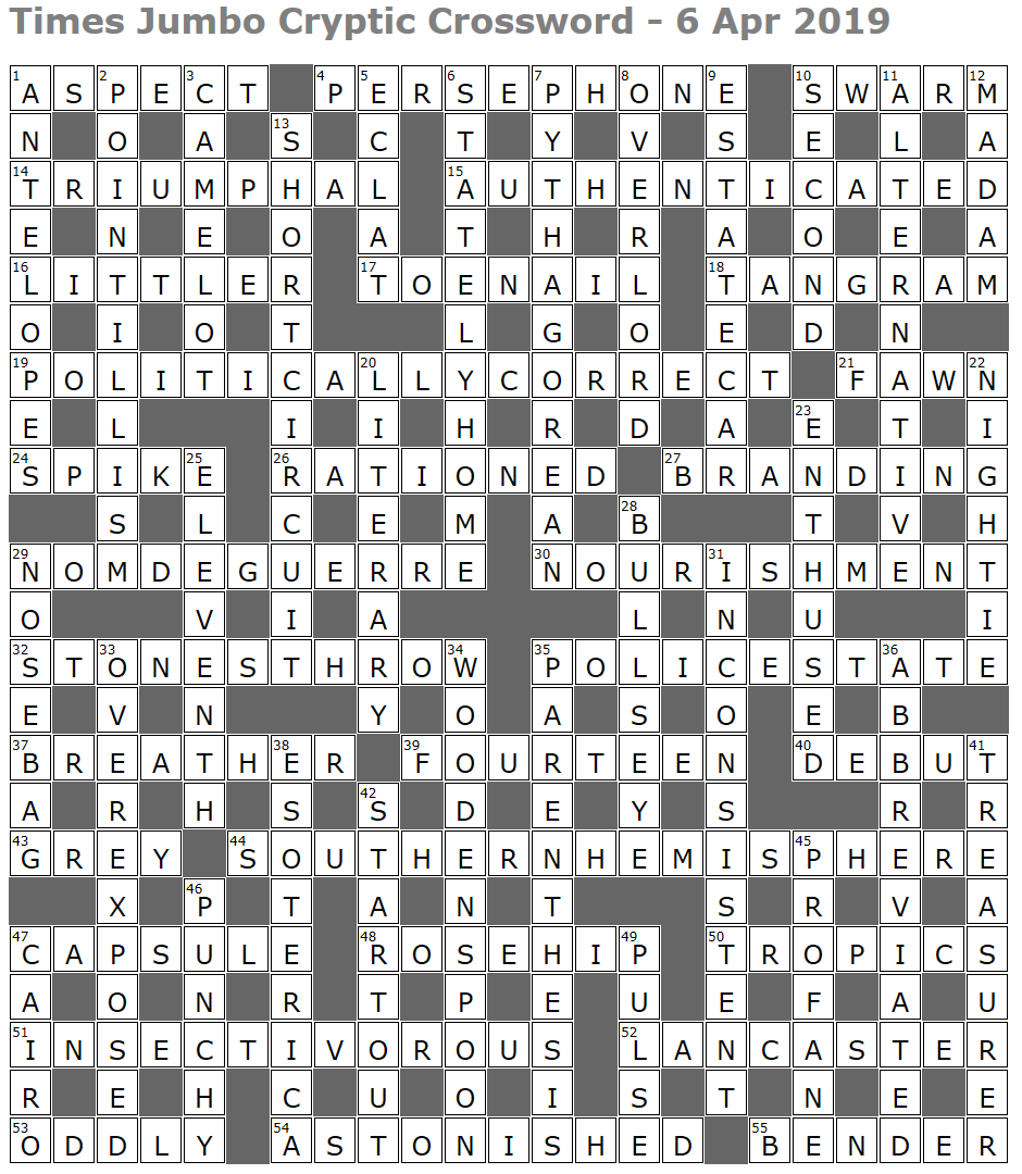 Times Jumbo Cryptic Crossword 1374 Lucian Poll S Web Ramblings