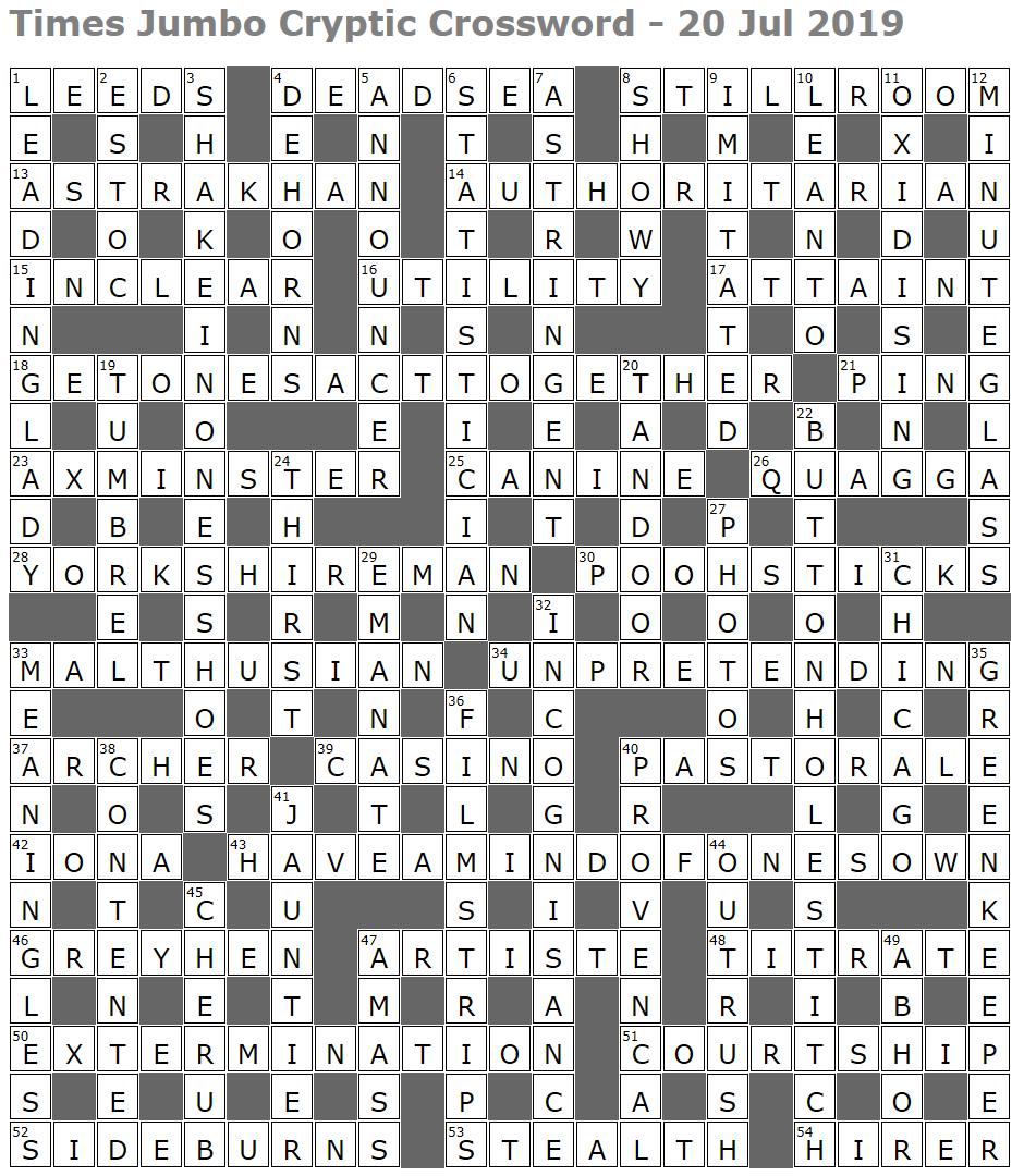 Times Jumbo Cryptic Crossword 1392 Lucian Poll S Web Ramblings
