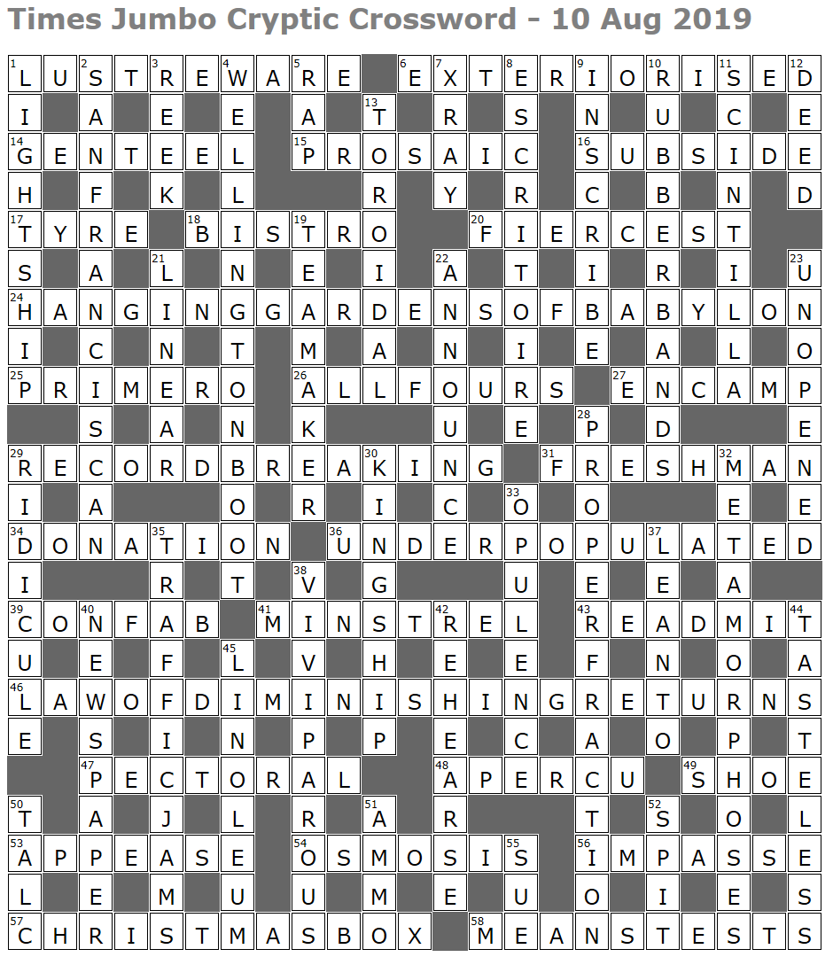 Carbon dating difficulties crossword