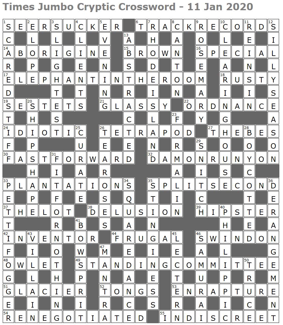 Times Jumbo Cryptic Crossword 1420 Lucian Poll S Web Ramblings