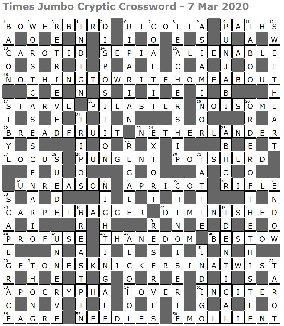 Times Jumbo Cryptic Crossword 1428 Lucian Poll S Web Ramblings