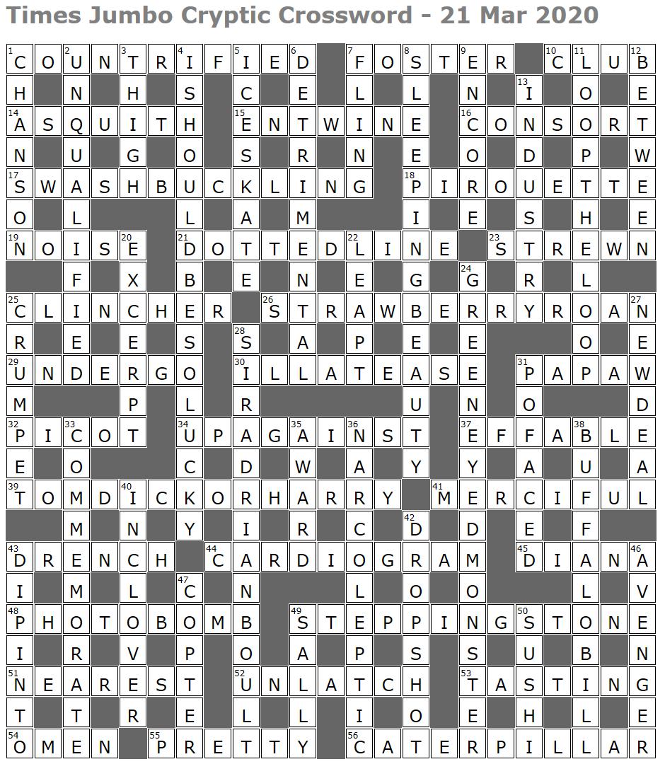 Times Jumbo Cryptic Crossword 1430 Lucian Poll S Web Ramblings