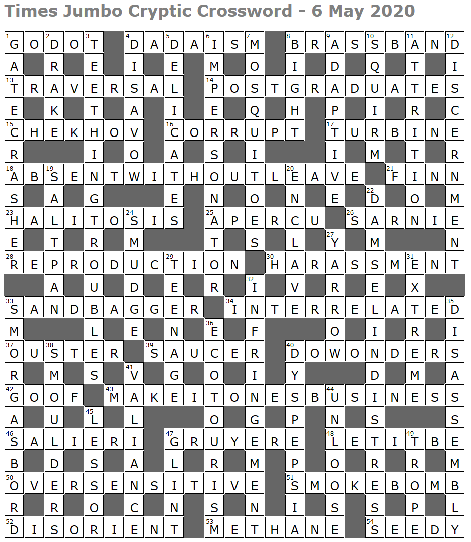Times Jumbo Cryptic Crossword 1444 Lucian Poll S Web Ramblings