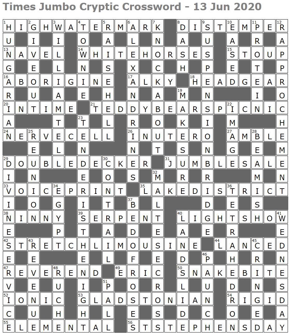 Times Jumbo Crossword Page 4 Lucian Poll S Web Ramblings
