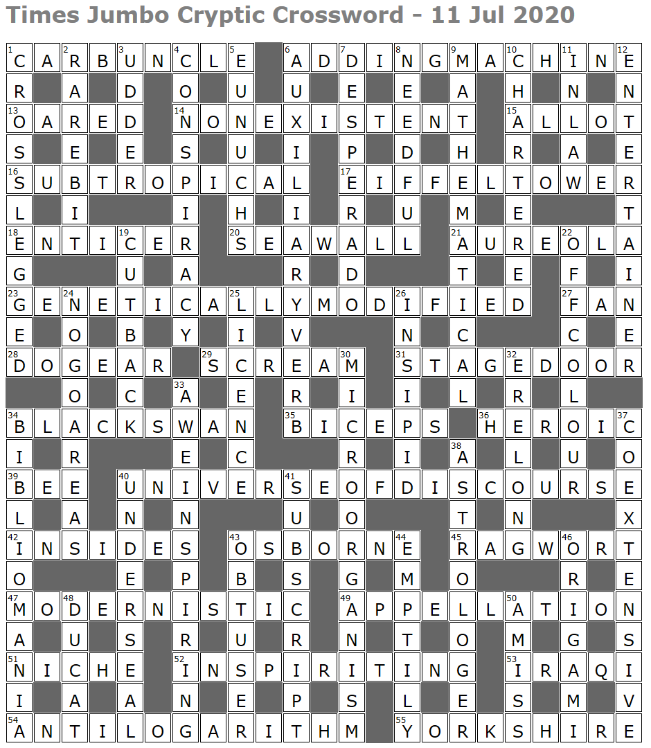 Times Jumbo Cryptic Crossword 1449 Lucian Poll S Web Ramblings
