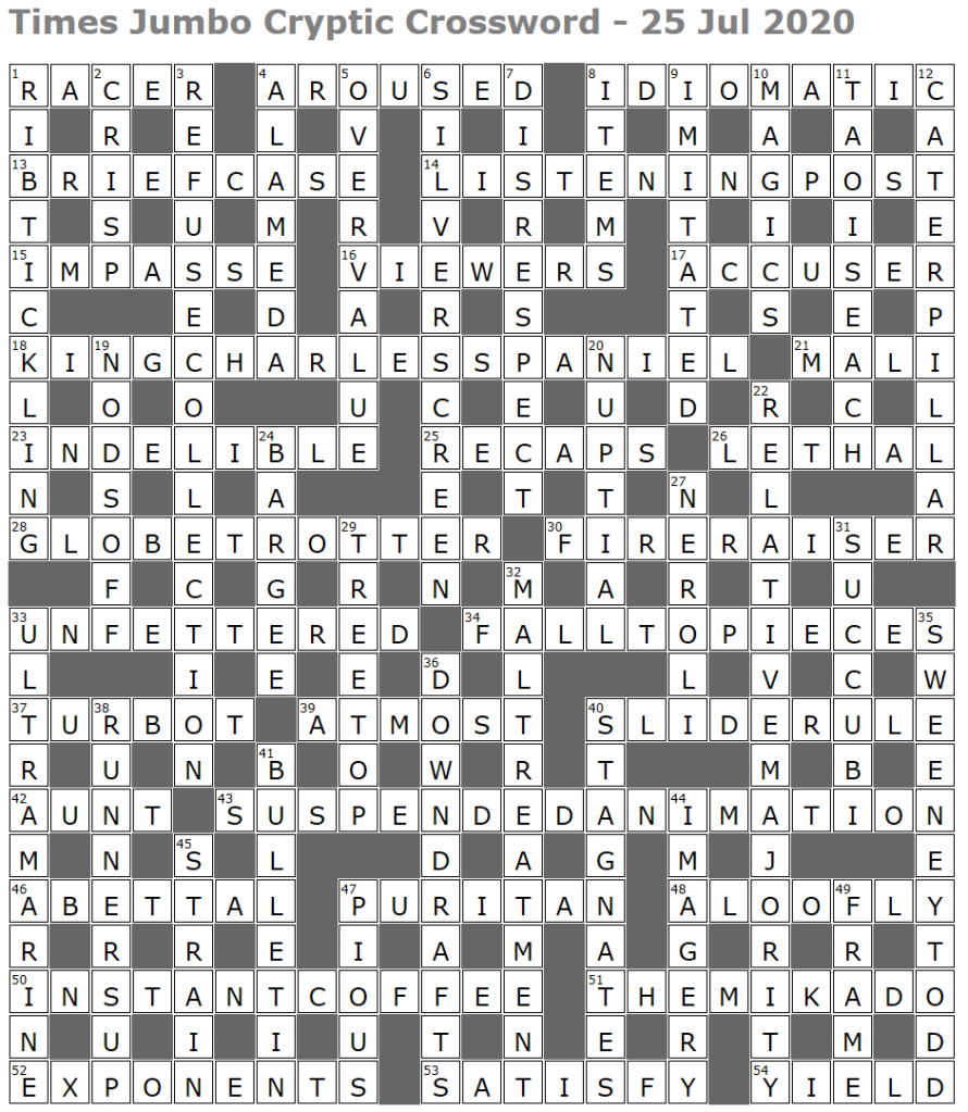 Times Jumbo Crossword Page 4 Lucian Poll S Web Ramblings