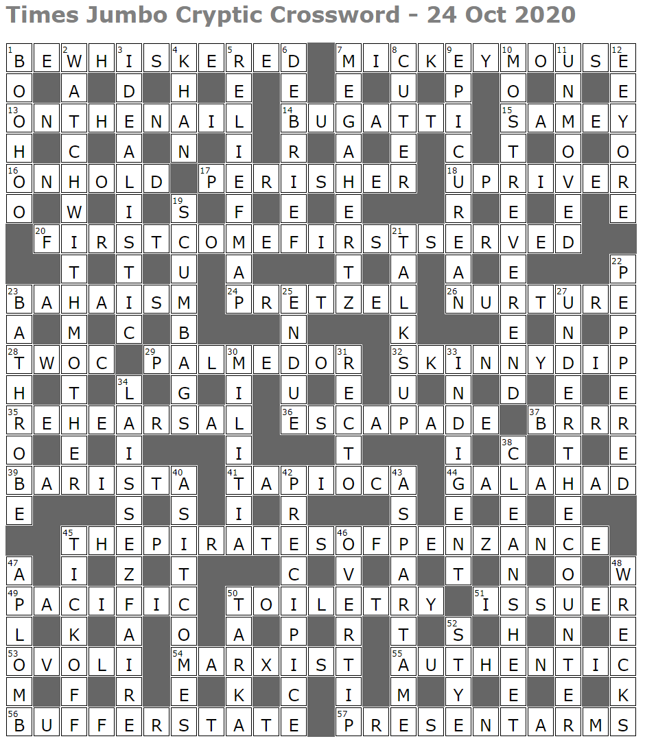 Times Jumbo Cryptic Crossword 1465 Lucian Poll S Web Ramblings