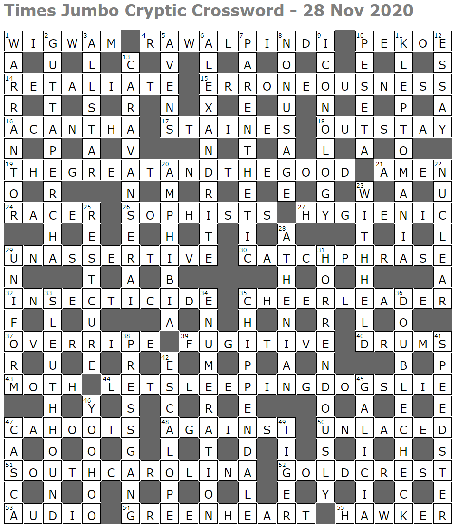Lucian Poll S Web Ramblings Page 2 Mind Twisting Horror Is It I Have Just The Thing Also Crosswords