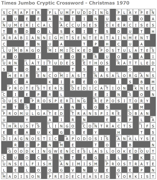 Times Jumbo Cryptic Crossword 1 Lucian Poll S Web Ramblings