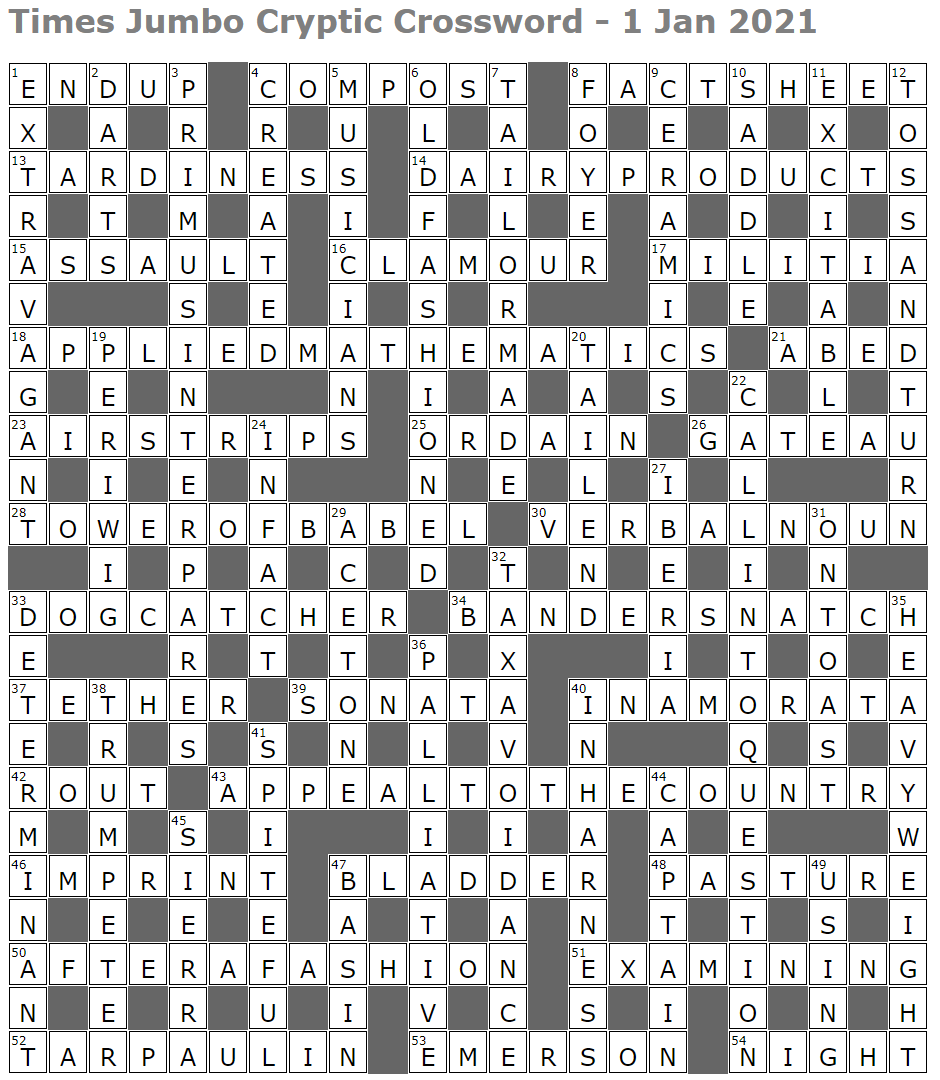 Times Jumbo Cryptic Crossword 1476 Lucian Poll S Web Ramblings